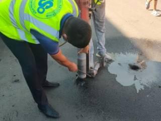 Антикоррупционщики проверили качество ремонта дороги